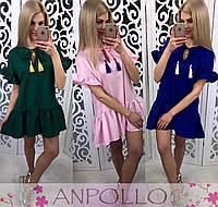 Женское красивое платье из хлопка (7 цвета)
