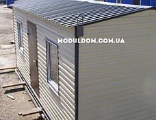 Мобильный дачный домик (6 х 3 м.), металлокаркас, вагонка, 2 окна, фото 3