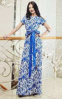 Красивое летнее шифоное платье в пол