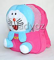 Рюкзак для дошкольников с мягкой игрушкой зайка розовый