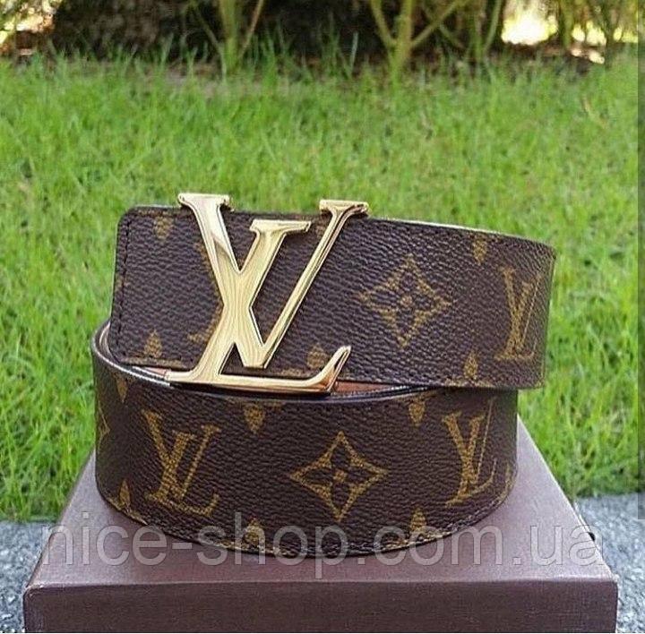 Ремень Louis Vuitton классика,фурнитура-под золото, фото 2