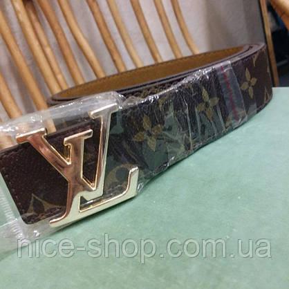 Ремень Louis Vuitton классика,фурнитура-под золото, фото 3