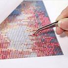 Алмазная вышивка, чашка кофе и розочка 25х25 см, квадратные стразы, полная выкладка, фото 5