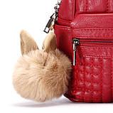 Рюкзак жіночий Мишка з вушками (червоний), фото 4