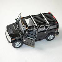 Машинка Hummer H2 SUV 1:38 метал чёрная