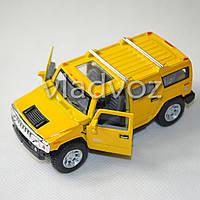 Машинка Hummer H2 SUV 1:38 метал желтая
