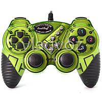 Игровой джойстик геймпад USB X-senze 988 для ПК зелёный