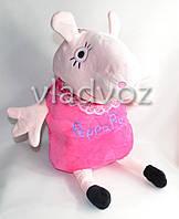 Детский рюкзак свинка пеппа малиновый в виде игрушки