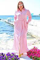 Элегантная летняя рубашка-платье (48-54)