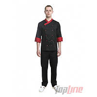 Поварской костюм мужской Брюссель чёрный №6