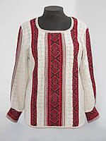 Женская рубашка вязаная Маруся темно-красная