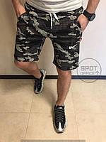 Мужские трикотажные шорты камуфляж