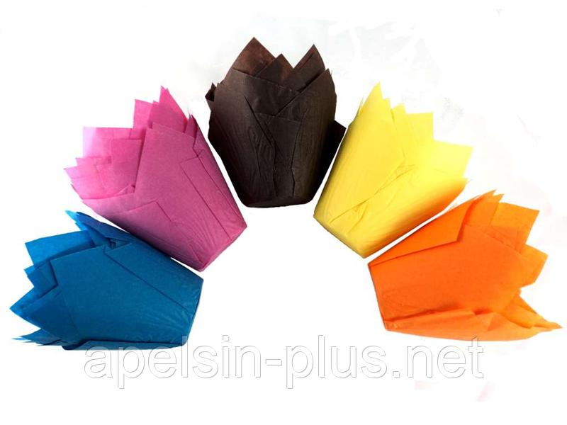 "Форма бумажная для выпечки ""Тюльпан"" набор из 12 штук"