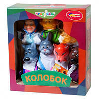 """Кукольный театр """"КОЛОБОК"""" (премиум упаковка, 7 персонажей)"""