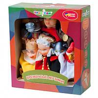 """Кукольный театр """"БРЕМЕНСКИЕ МУЗЫКАНТЫ"""" (премиум упаковка, 7 персонажей, книжка)"""