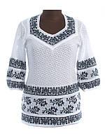 Женская рубашка вязаная Сокальский орнамент (3/4 рукав)
