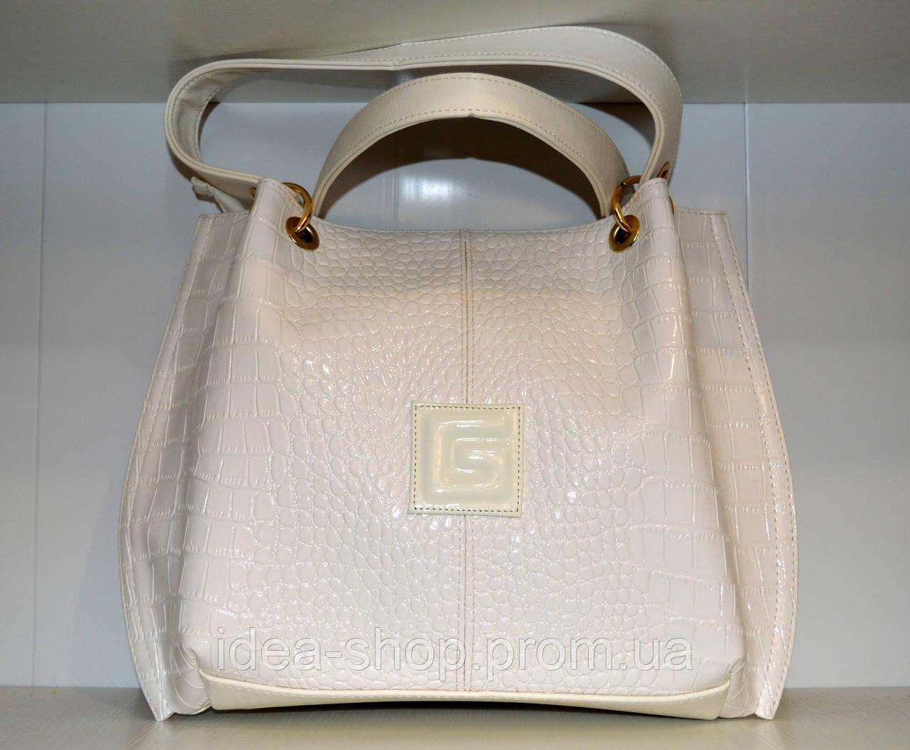 385292ae1ec9 Сумка-торба женская белая, сумка жіноча біла, цена 535 грн., купить ...