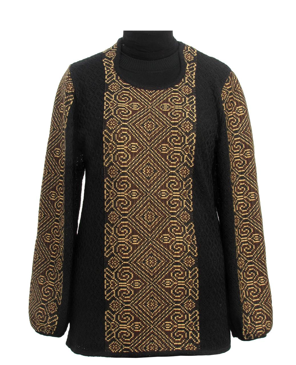 Женская рубашка вязаная 0335 (х/б)