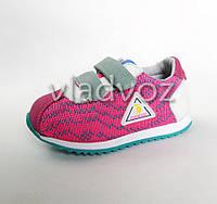 Легкие кроссовки для девочки розовые 26р.