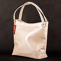 Перламутровая сумка-шоппер женская сумка-мешок пудра