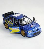 Машинка Subaru Impreza метал 1:32 синяя