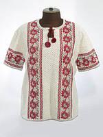 Женская рубашка вязаная Георгины (корткий рукав)
