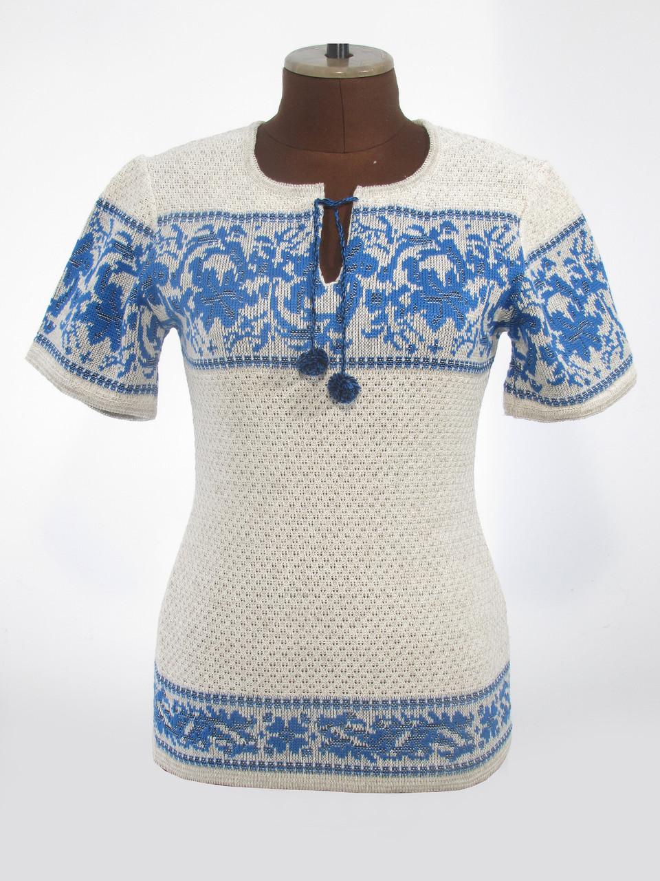 Женская рубашка вязаная Лилия ультра (корткий рукав)