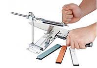 Точильный набор для различных видов ножей и топоров, с выбором угла заточки и водными камнями