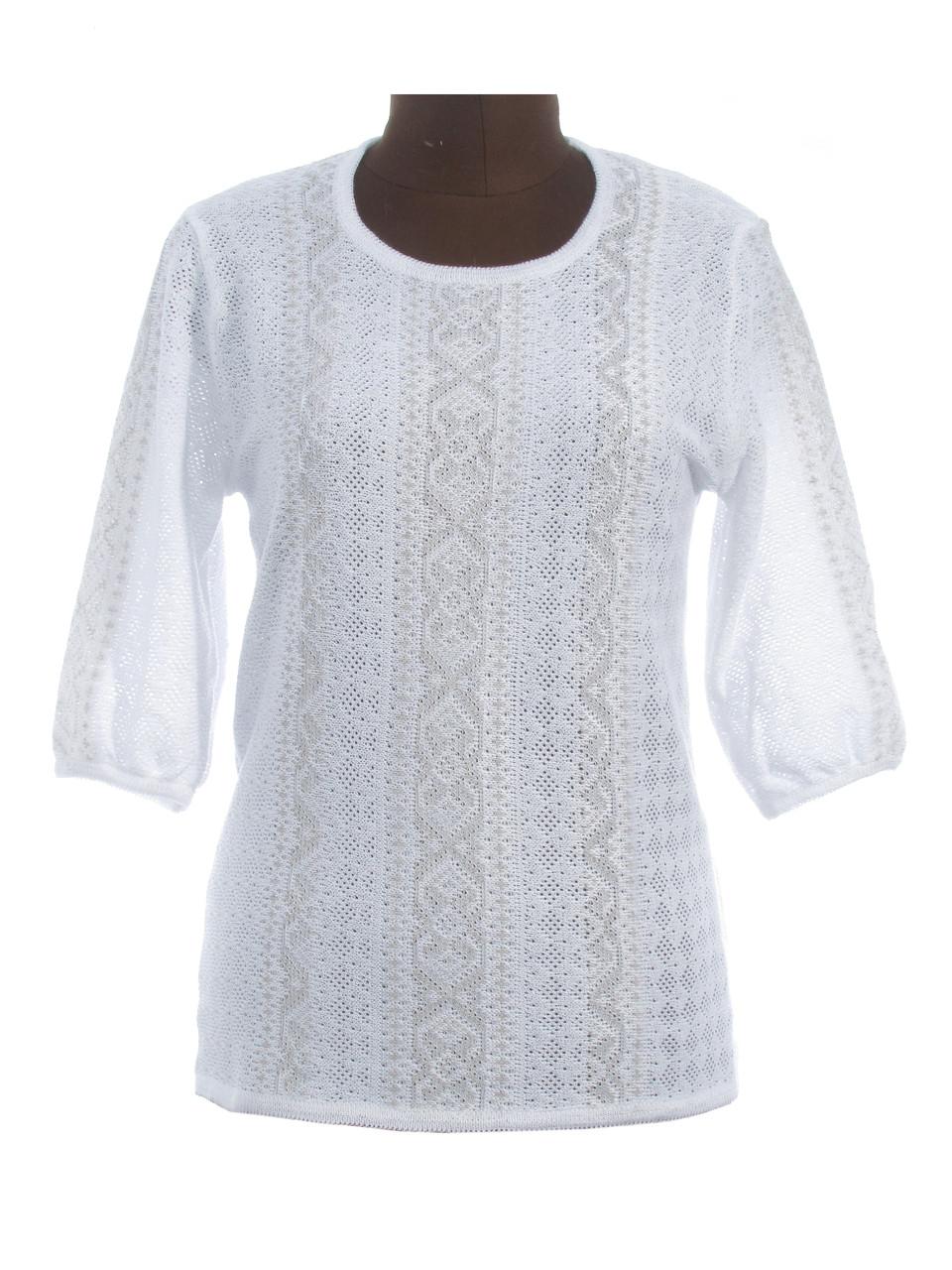Женская рубашка вязаная Маруся (3/4 рукав) (х/б)