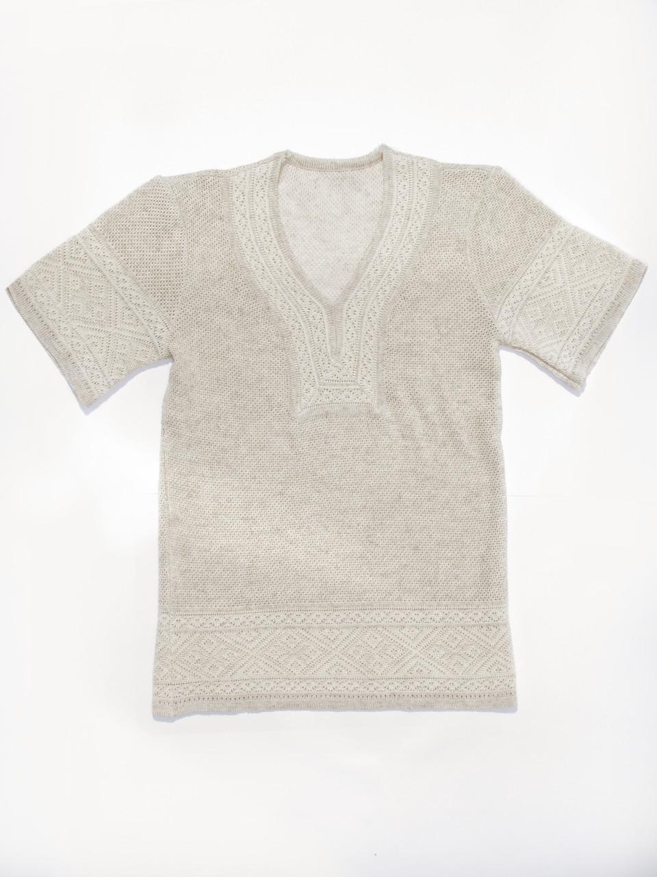 Женская рубашка вязаная 0348 (корткий рукав)