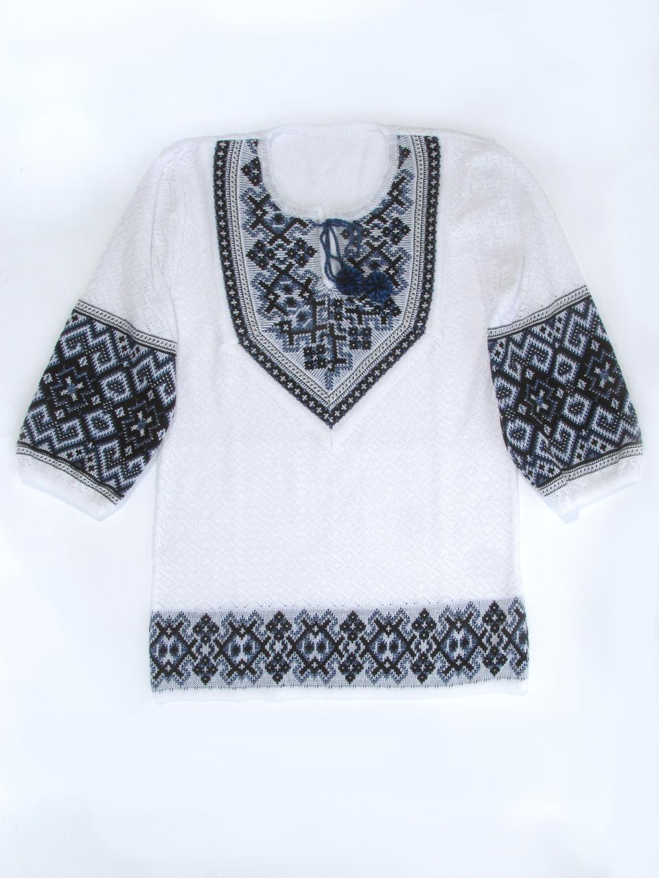 Женская рубашка вязаная 0349 (корткий рукав)