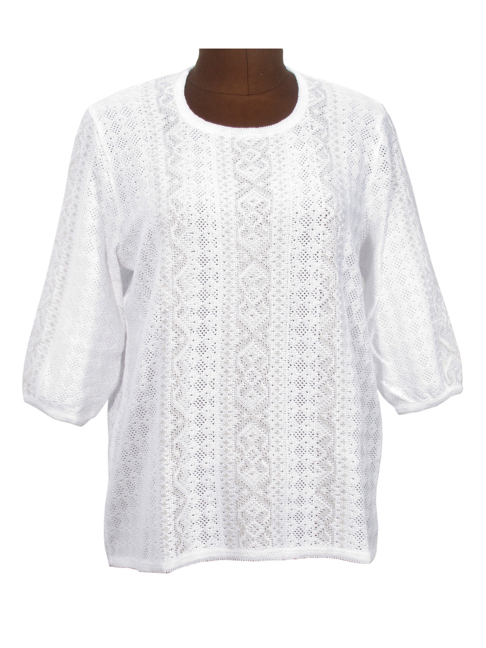 Женская рубашка вязаная 0350 (3/4 рукав)