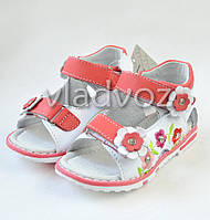 Детские босоножки сандалии для девочки розовые Kellaifeng 23р.