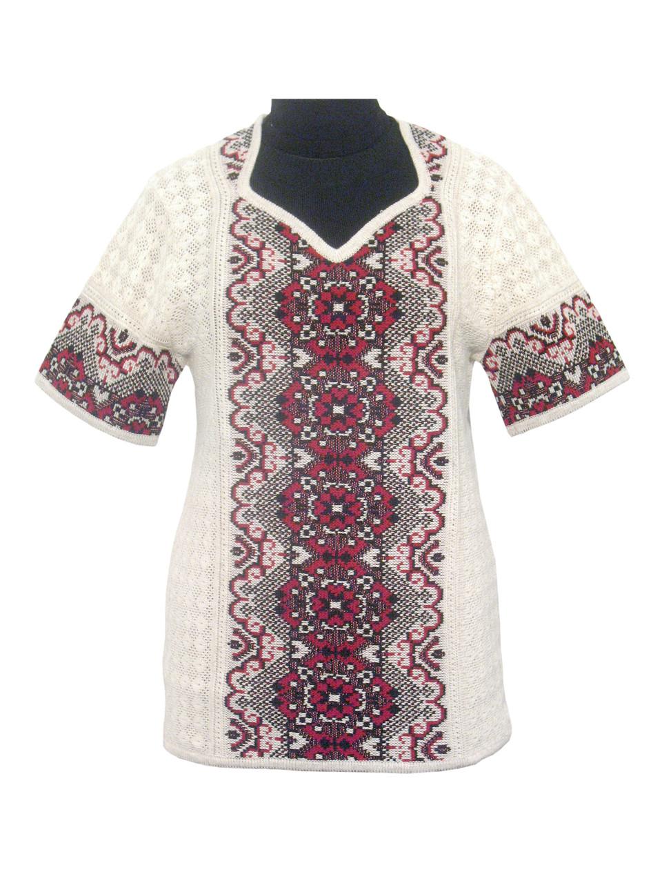 Женская рубашка вязаная 0351 (корткий рукав)