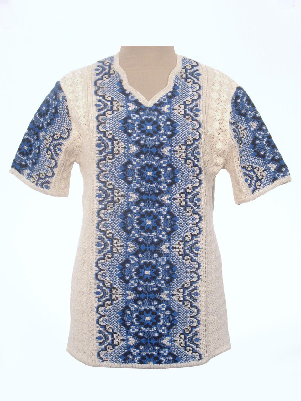 Женская рубашка вязаная 0352 (корткий рукав)