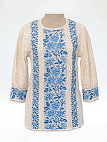 Женская рубашка вязаная 0353 (3/4 рукав)