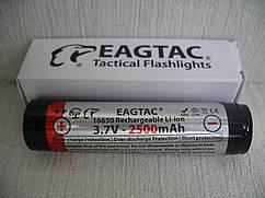 EagleTac 16650 2500 mAh аккумулятор с защитой