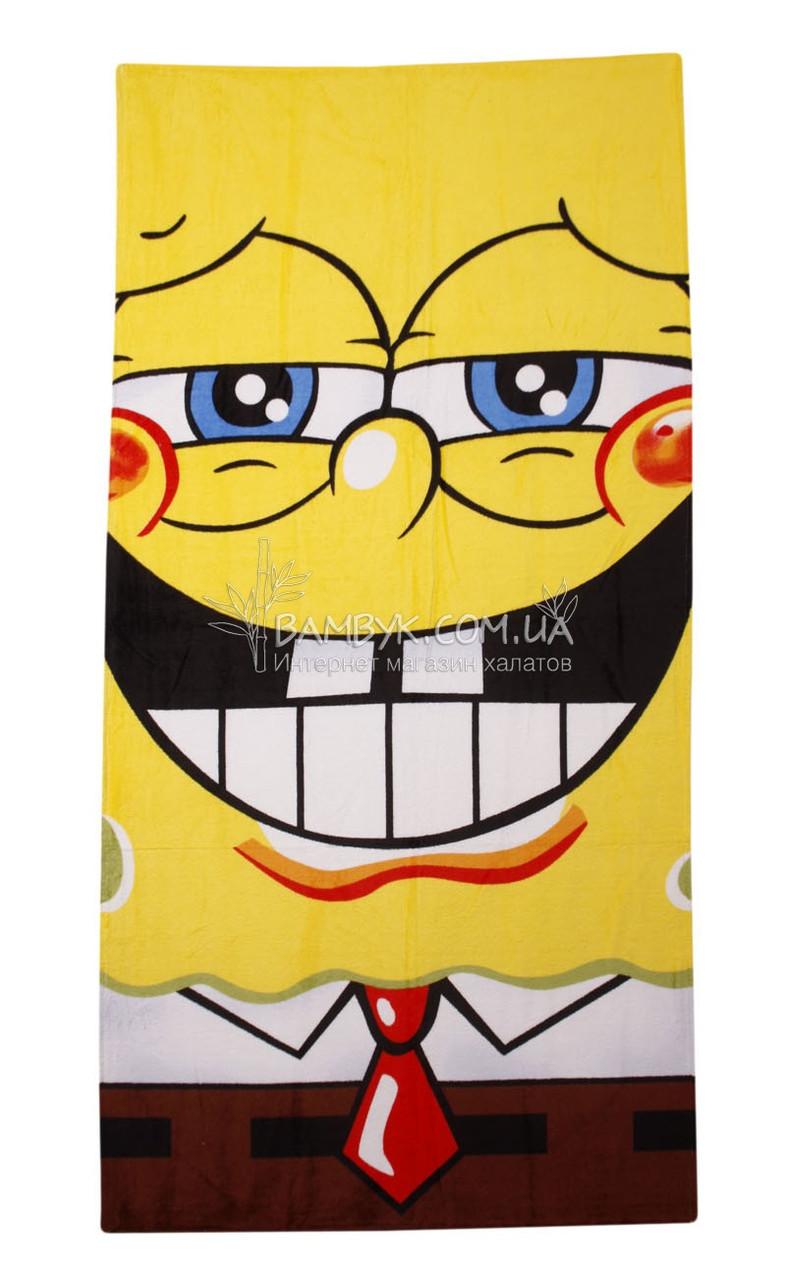 """Полотенце пляжное 75*150 """"Spongebob-2"""" Merzuka"""