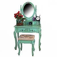 Новый Цвет Туалетный столик 75см Трюмо с наклонным зеркалом, табурет, Германия