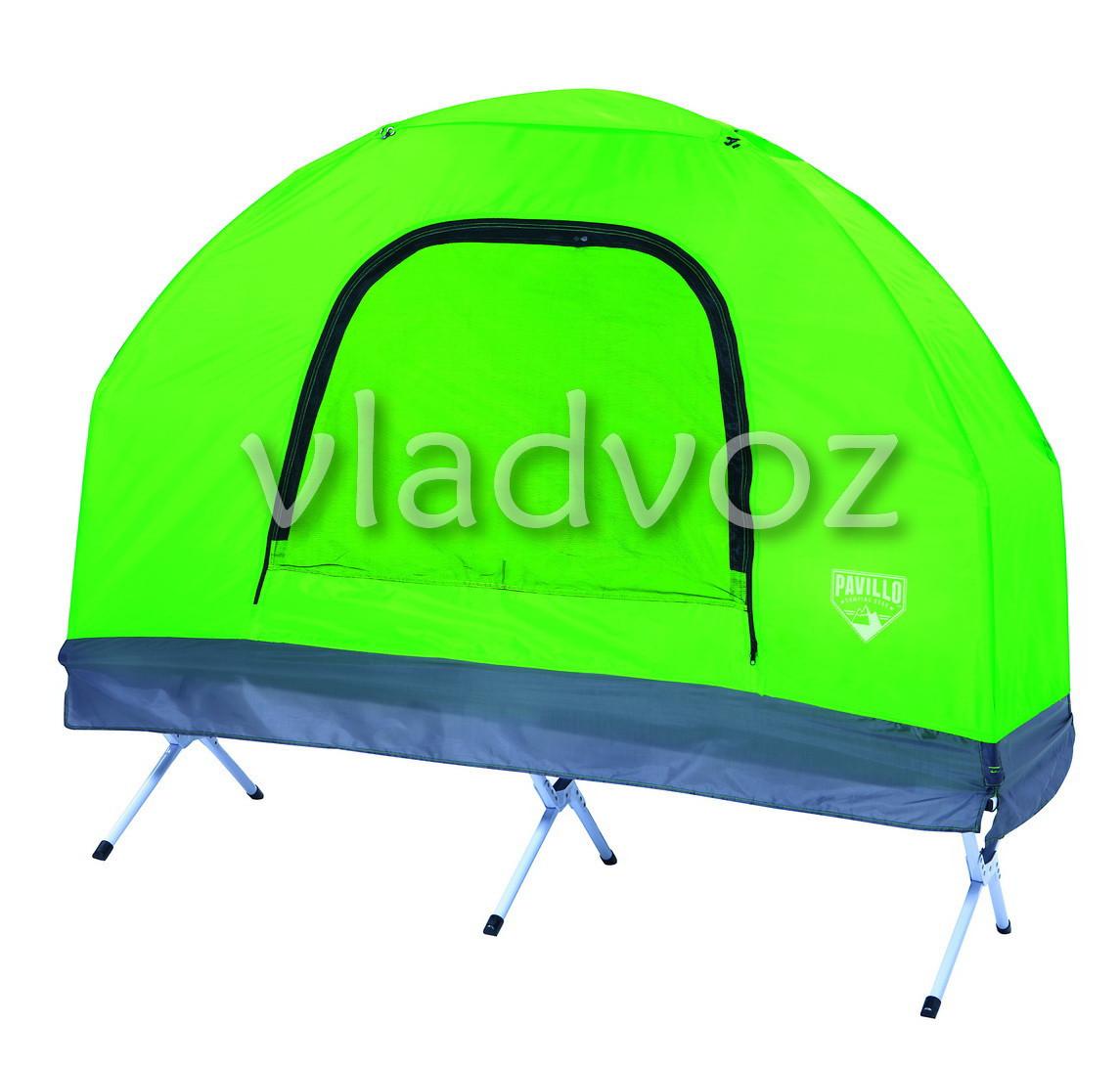 Палатка раскладушка одноместная с тентом и чехлом - интернет-магазин vladvozsklad мтс 0666993749, киевстар 0681044912, лайф 0932504050 в Николаевской области