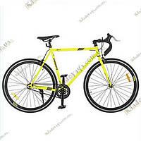 """Велосипед Profi FIX 28"""" Fixed Gear Bike, Фикс и Сингл спид (Желтый), фото 1"""