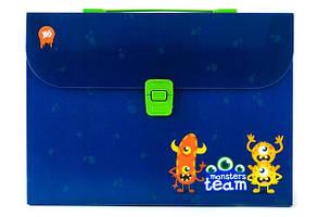 Тека-портфель А4 пластикова 1 Вересня Monsters
