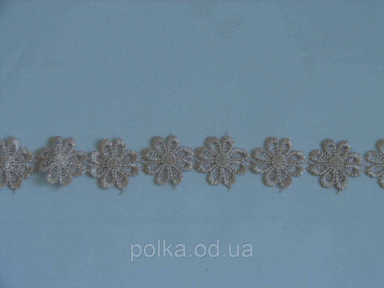 "Кружево ""Ромашка"" светло пудровое, диаметр 1 цветка 2,5 см,(1 упаковка 15ярдов=13.8м)"