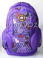 Рюкзак для девочки подростка DFW фиолетовый сердца