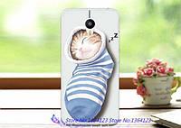 Силиконовый бампер чехол с рисунком для Meizu M2 Note