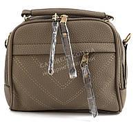 Небольшая функциональная женская сумочка с качественного заменителя кожи Suliya art. 656 кофе с молоком