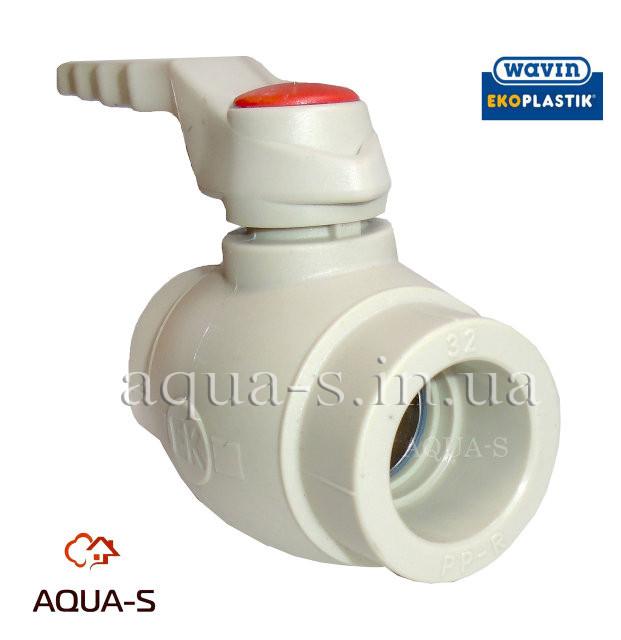 Кран шаровой полипропиленовый (для PPR-труб) полнопроходной DN 32 Wavin EkoPlastik - AQUA-S Европейские Инженерные Системы  в Днепре