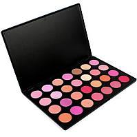 Палитра профессиональных румян 28 оттенков Beauties Factory Blush Palette
