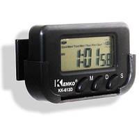 Электронные автомобильные часы Kenko KK 613 D с будильником и секундомером, автомобильные часы, часы в авто