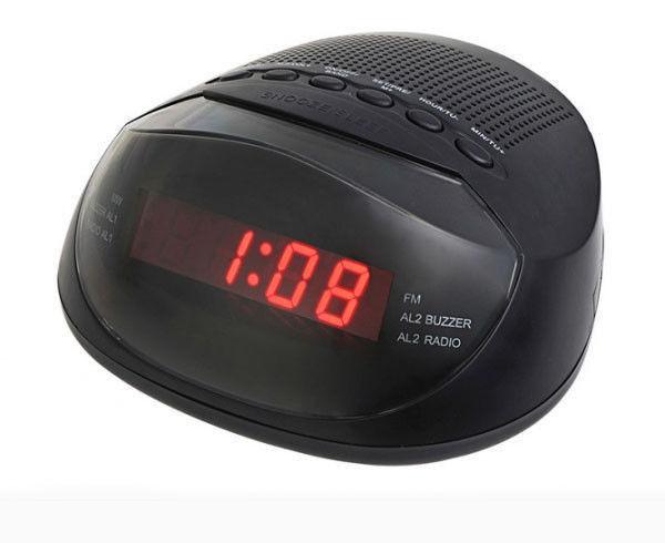 """Часы с FM Supra 318, Часы сетевые с ФМ Радиоприемником, электронные часы, многофункциональные часы - """"Точка"""" интернет-магазин  в Киеве"""